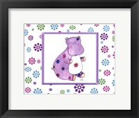 Groovy Hippo Framed Print