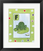 Framed F is for Frog