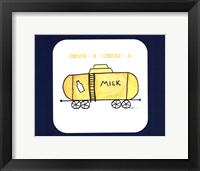 Framed Train Set - Milk