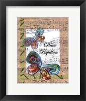 Framed Deux Papillon