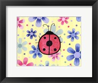 Framed Funky Flower Ladybug
