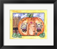 Mr and Mrs Pumpkin Eater Framed Print