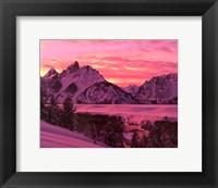 Framed Teton Sunset