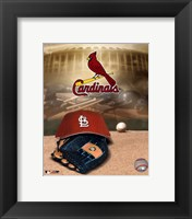 Framed Cardinals -  Logo / Cap