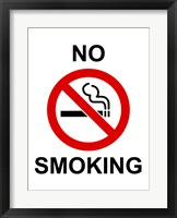 Framed No Smoking - sign