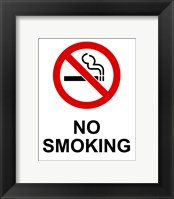 Framed No Smoking - Small