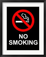 Framed No Smoking - Black