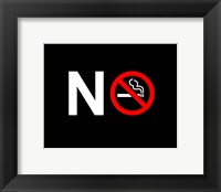 Framed No Smoking - NO SIGN (Small)