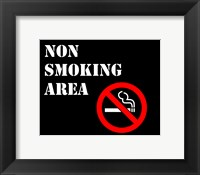 Framed Non Smoking Area