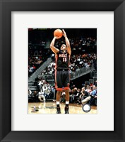 Framed Mario Chalmers 2010-011 Action