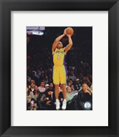Framed Derek Fisher 2010-011 Action