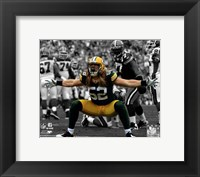 Framed Clay Matthews 2010 Spotlight Action