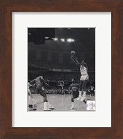 Framed Michael Jordan University of North Carolina Game winning basket in the 1982 NCAA Finals against Georgetown Vertical Action