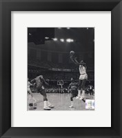 Framed Michael Jordan University of North Carolina Game winning basket in the 1982 NCAA Finals against Georgetown Vertical Action