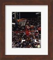 Framed Michael Jordan 1987 Slam Dunk Contest