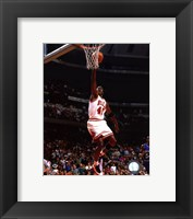 Framed Michael Jordan 1994-95 shooting