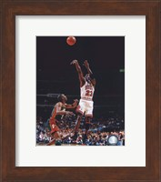 Framed Michael Jordan Game 6 of the 1996 NBA Finals Action