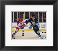 Alex Ovechkin & Sidney Crosby 2011 NHL Winter Classic Action Framed Print
