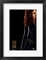 Framed Iron Man 2 Black Widow