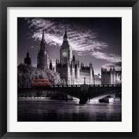 Framed London Bus IV