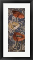 Framed Poppies de Bleu I