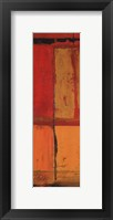 Abstraction on Red I Framed Print