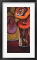 Red Poppies in a Vase Framed Print