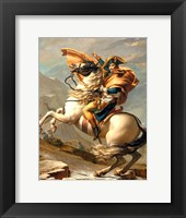 Framed Napoleon (1769-1821) Crossing the Alps at the St Bernard Pass