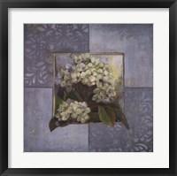 Hydrangeas on Blue II Framed Print
