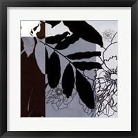 Framed Blue & White Shilouette II