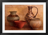 Framed Decorative Vessel Still Life I
