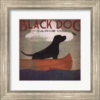 Framed Black Dog Canoe