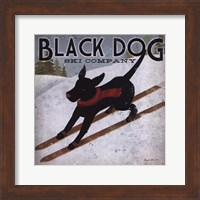 Framed Black Dog Ski