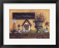 Framed Bless This Home (shelf)