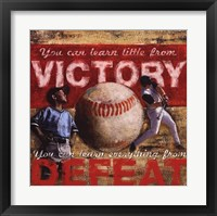 Framed Victory- Baseball