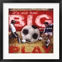 Big Play Framed Print