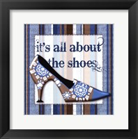 Framed Girly Shoe I