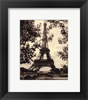 Framed Eiffel Tower II - mini