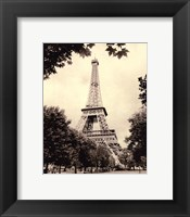 Framed Eiffel Tower I - mini