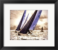 Framed Racing Waters I - mini