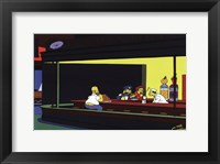 Framed Simpsons Nighthawks Spoof