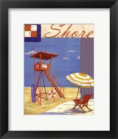 Lifeguard Collage II Framed Print