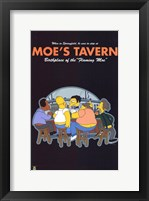 Framed Simpsons Moe's Tavern