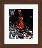 Framed Michael Jordan 1990 Spotlight Action