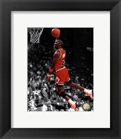 Framed Michael Jordan 1990 Spotlight Action