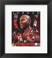 Framed Michael Jordan 2011 Portrait Plus