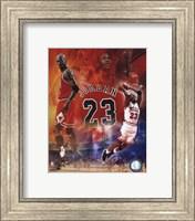 Framed Michael Jordan 2011 Legends Composite