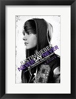Framed Justin Bieber: Never Say Never Movie