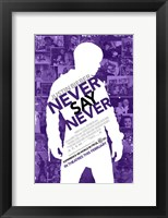 Framed Justin Bieber: Never Say Never Film