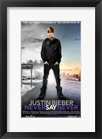 Framed Justin Bieber: Never Say Never
